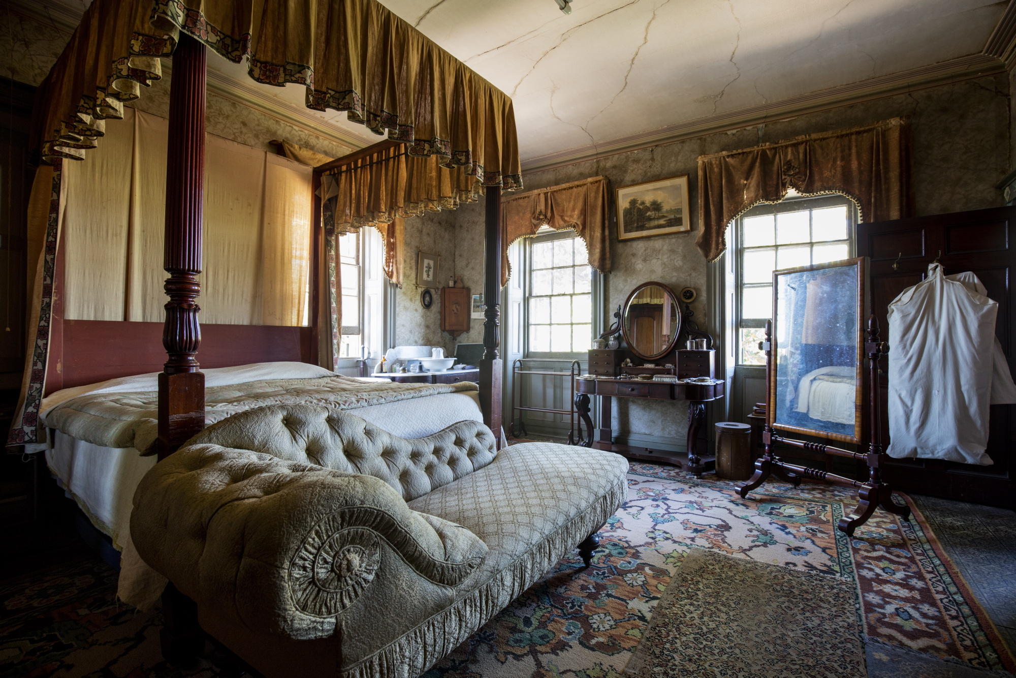 Principal bedroom in an historic home with an interior inspired by - The Principal Bedroom At Rouse Hill House Amp