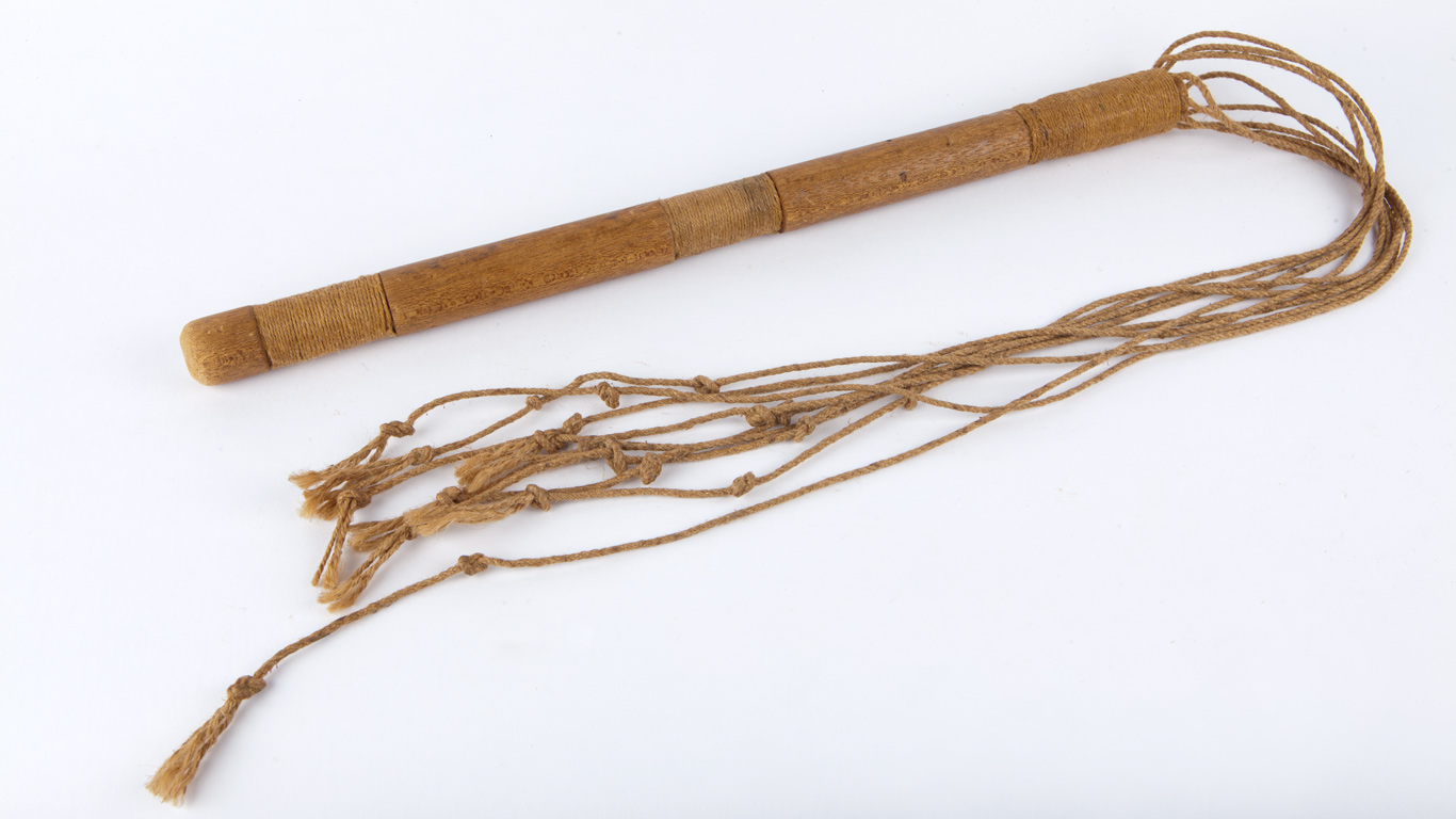 Cat o' nine tails (reproduction), Hyde Park Barracks Prop Collection.