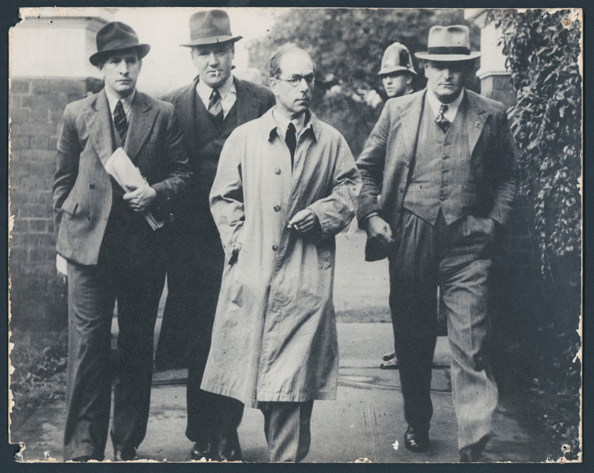 Photograph of Antonio Agostini with police in 1944