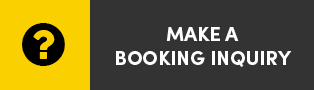 Make a booking inquiry: gold background