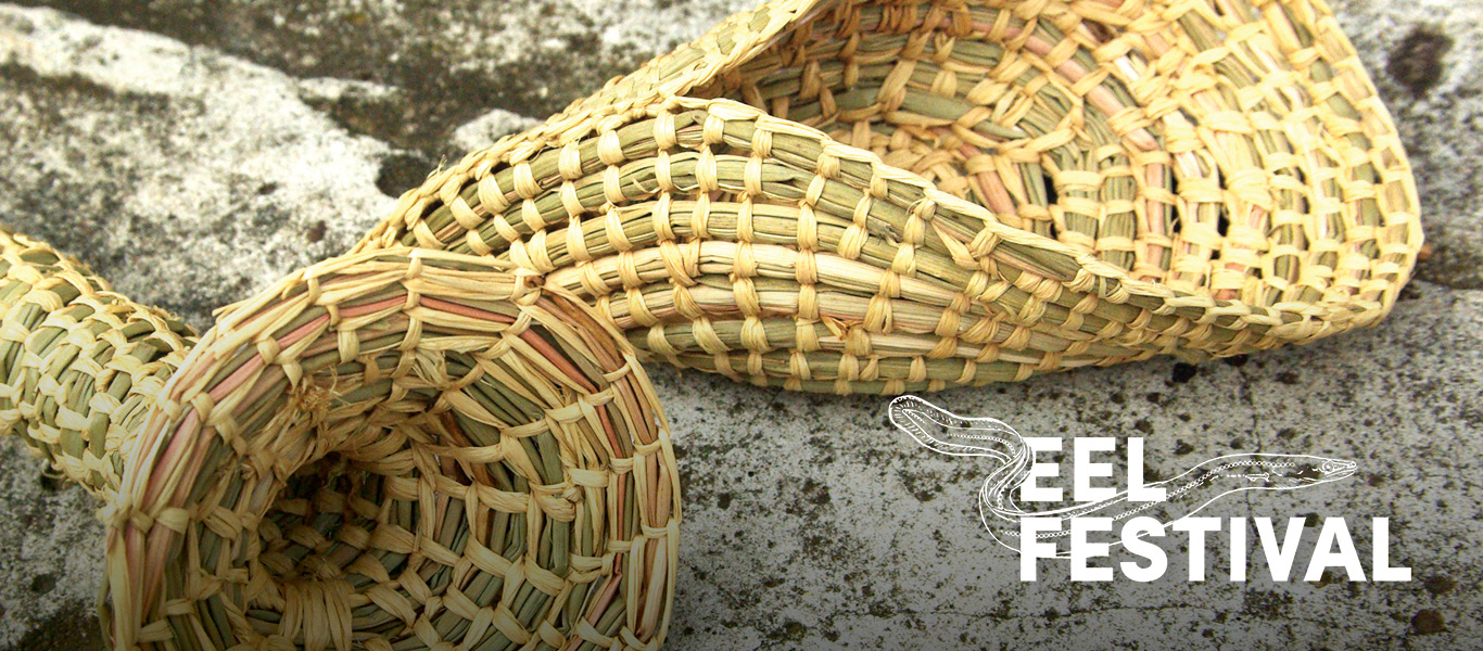 Image of woven conical eel trap.
