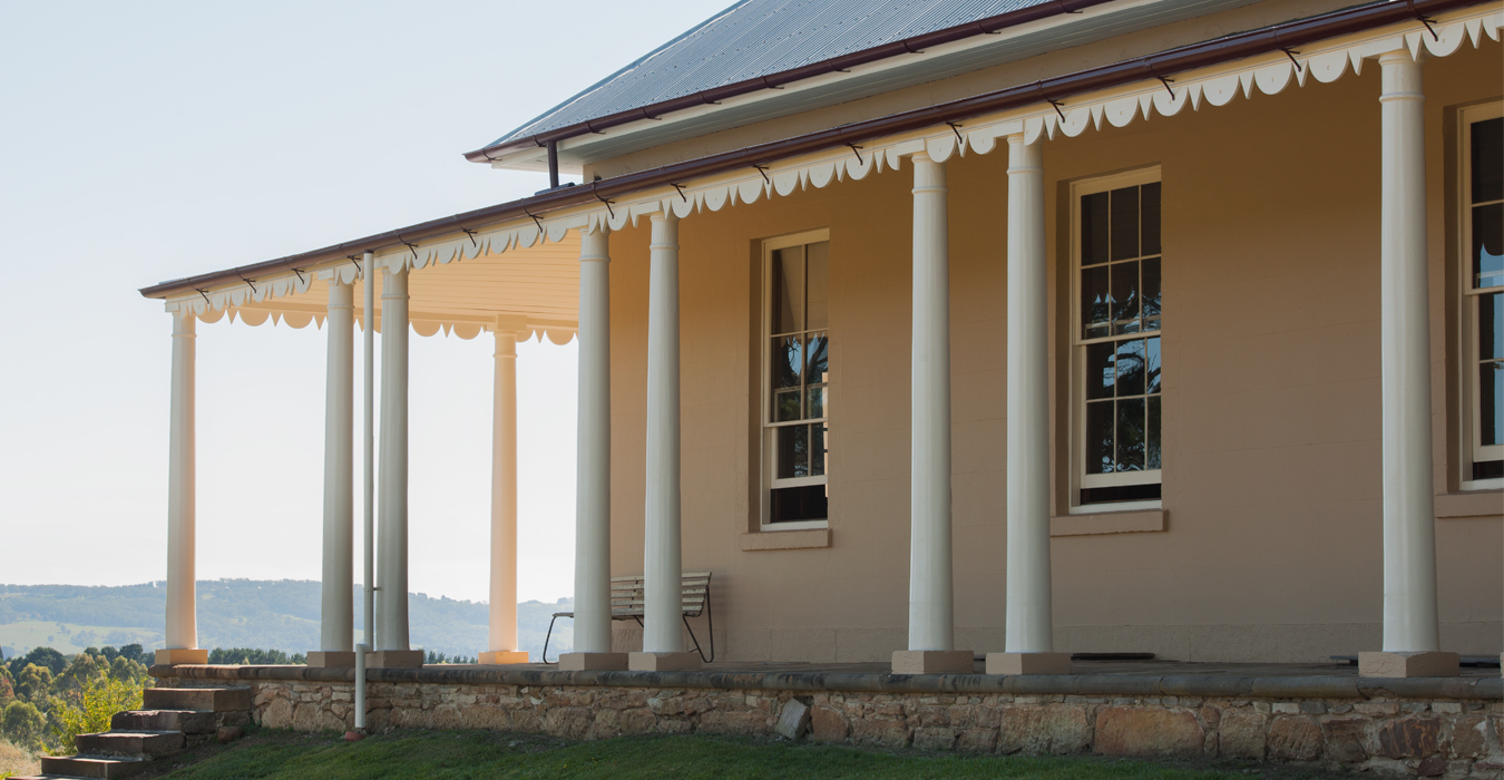 Southern verandah of Throsby Park homestead.