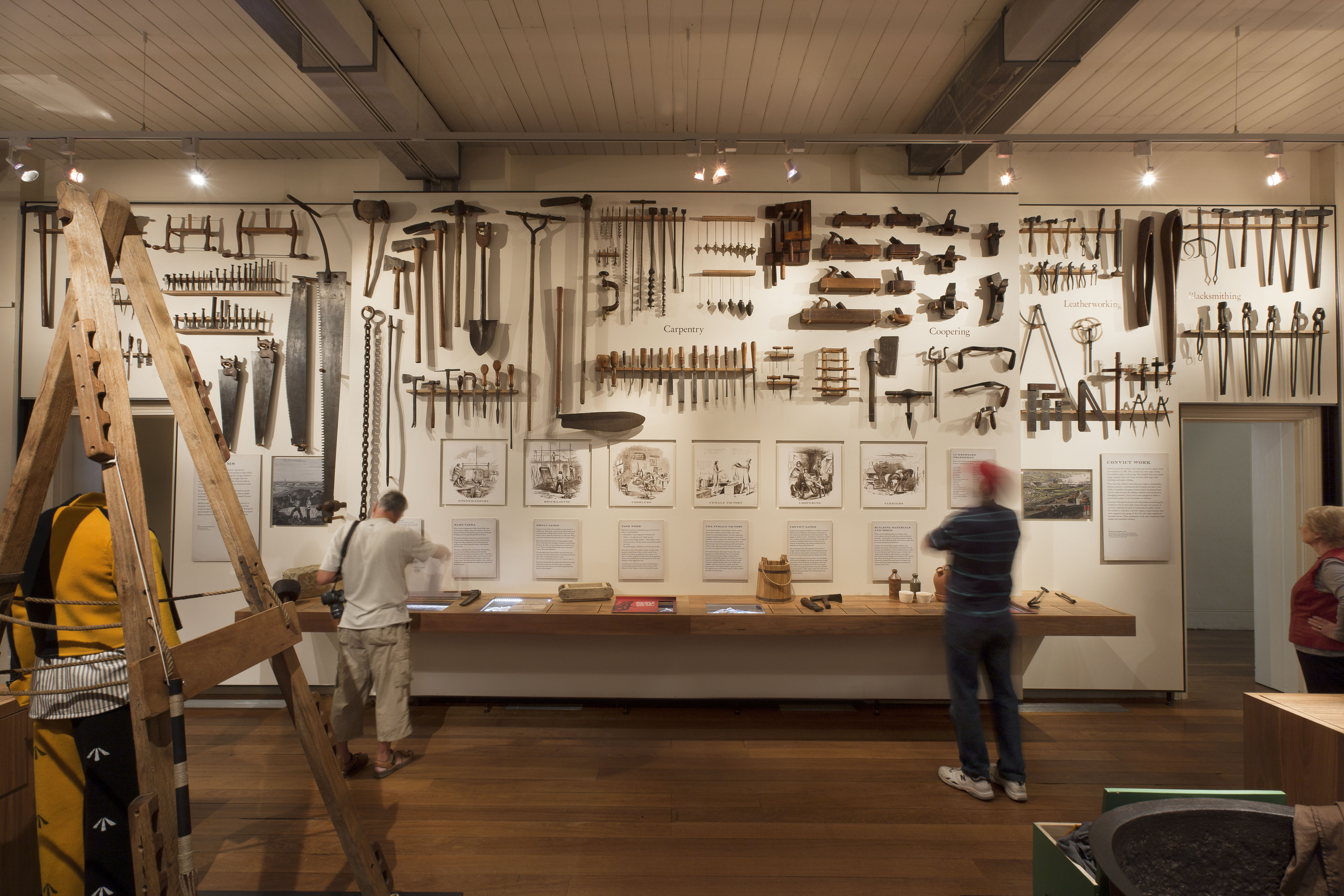 Convict Carpentry And Building Tools On Display In The