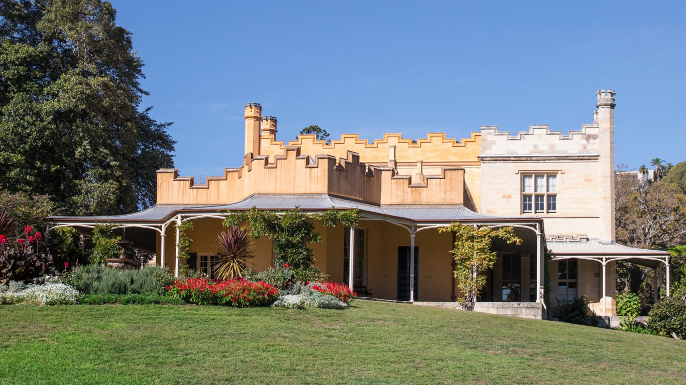 Front facade of Vaucluse House