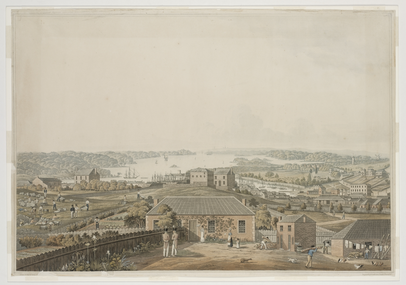Engraving of Port Jackson ca 1821