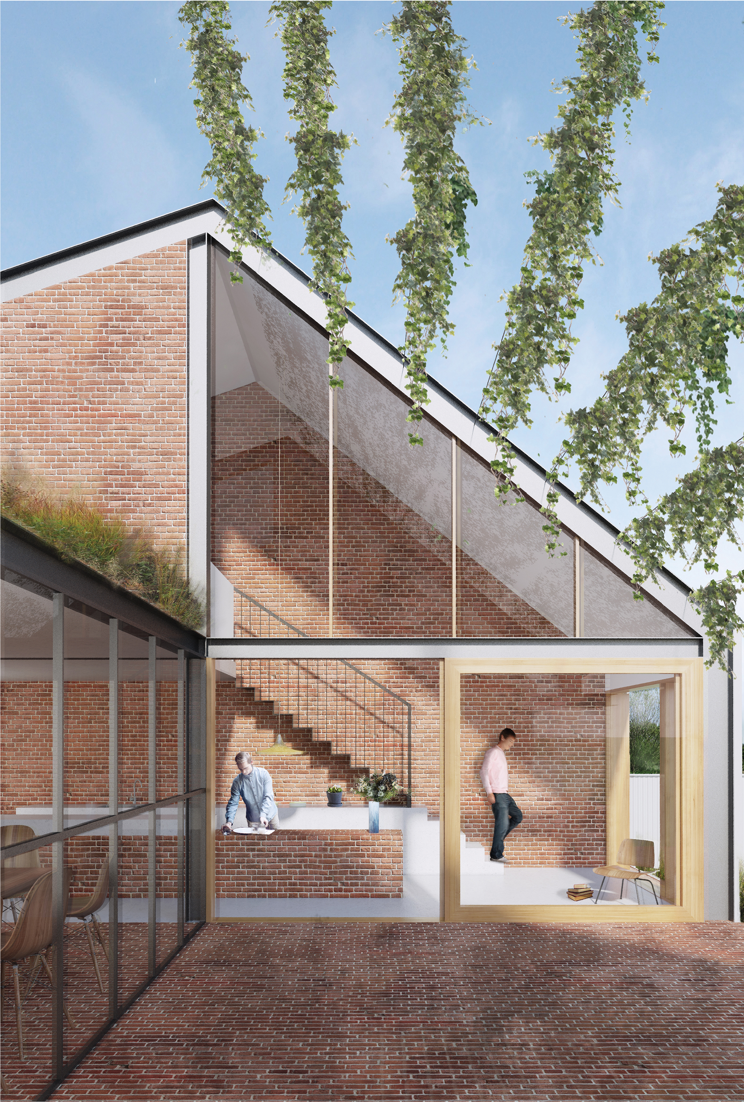 Artist impression of exterior of house.