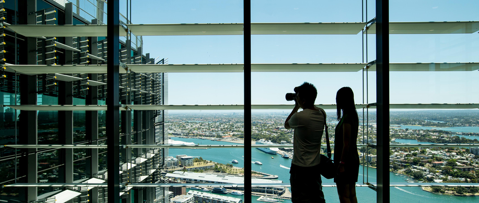 <p>Sydney Open 2016 visitors at Two International Towers, Barangaroo.&nbsp;Photo &copy; James Horan for Sydney Living Museums</p>