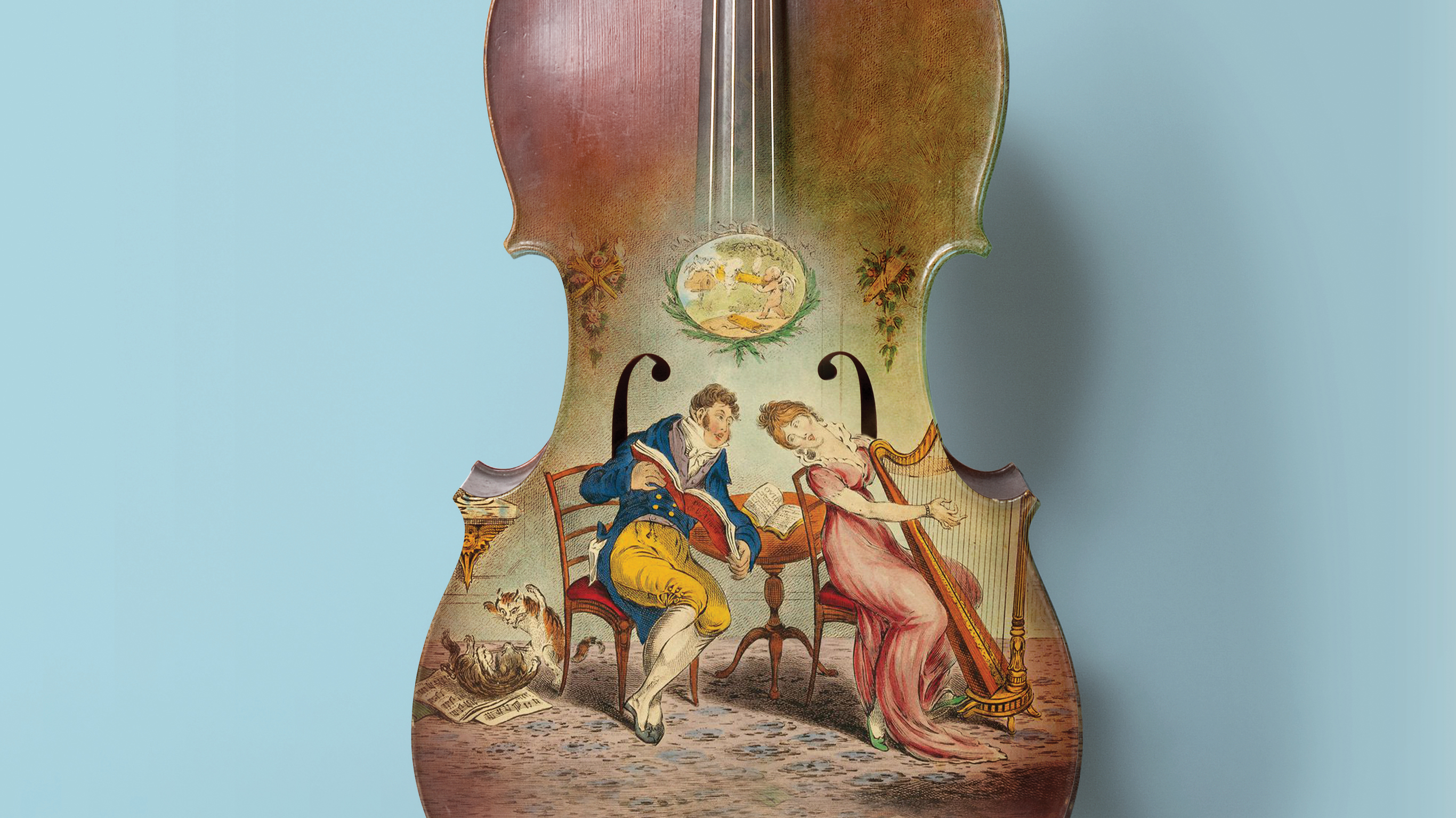 Image of a painting titled 'Harmony before matrimony' by William Brocas, c1805?