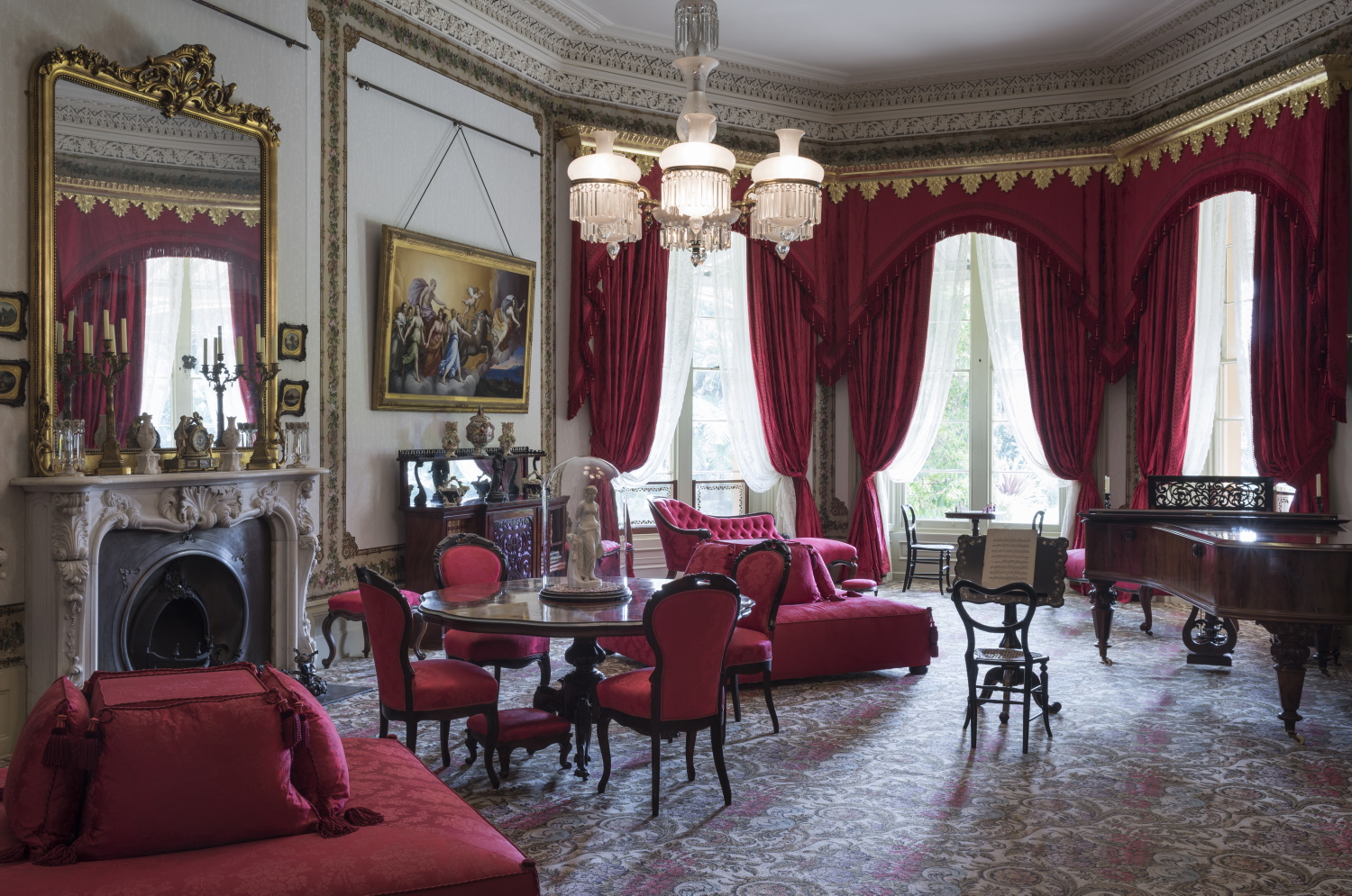 Newly refurbished drawing room, Vaucluse House, 2017.