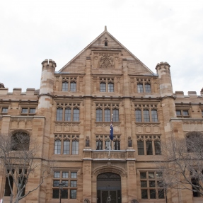 Photograph of the exterior of the Registrar General's Building in Queens Square, Sydney.
