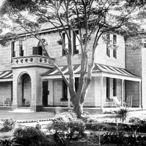 Historical image of the superintendents cottage at Prince of Wales Hospital, designed by architect John Horbury Hunt.