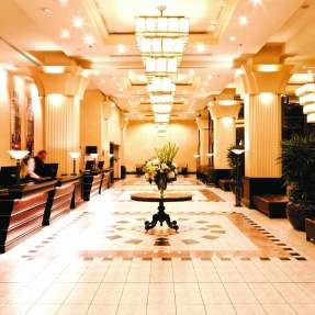 Interior photograph of the lobby at The Grace Hotel.