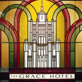 Grace in Stained Glass at The Grace Hotel.