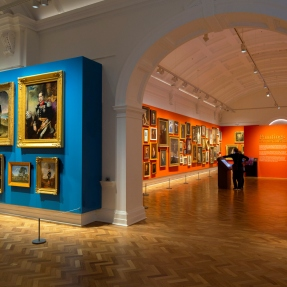 Newly refurbished western wing galleries showing portraits from the collection at the State Library of NSW