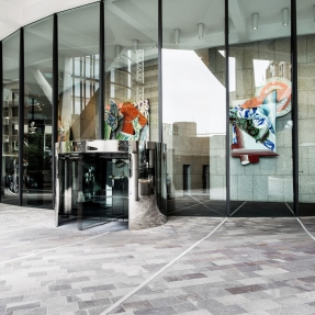 Exterior photograph of the main entrance to Grosvenor Place