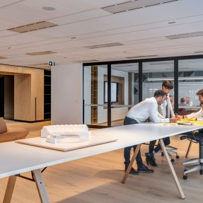 Interior photograph of PTW architects studio featuring the forum & boardroom