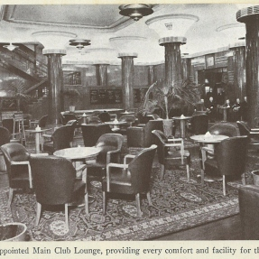 Historical photograph of the City Tattersalls Club, Sydney 'Main Club Lounge.'