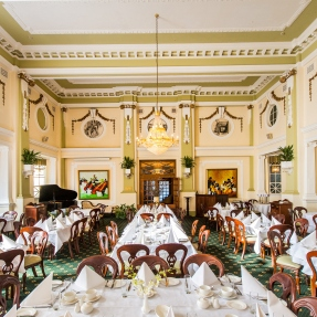 Interior photograph of Castlereagh Boutique Hotel & NSW Masonic Club, Sydney, featuring level 4 Cellos Dining Room.