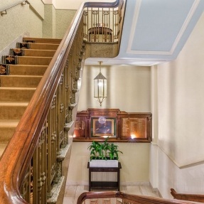 Interior photograph of Castlereagh Boutique Hotel & NSW Masonic Club, Sydney featuring staircase from Ground Floor to Level 1