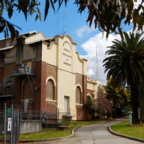 Street view photograph taken from Victoria Road, West Ryde of the Boiler House facade.