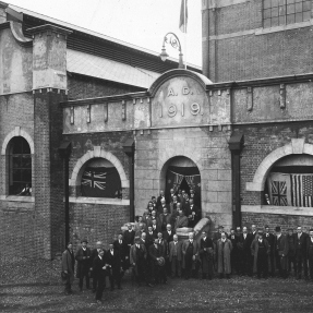 Historical photograph of the Opening of the Ryde Pumping station c1921.