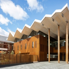 Exterior photograph of Marrickville Library.