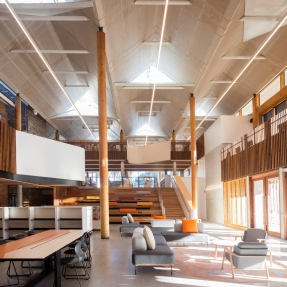Interior photograph of Marrickville Library.