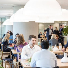 Interior photograph of the table, Lendlease offices, Tower Three International Towers Sydney.