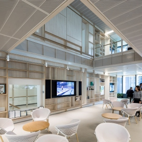 Interior photograph of a typical floor at Lendlease Tower Three International Towers Sydney.
