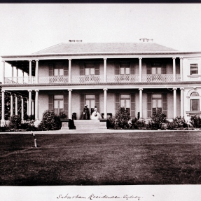 Historical image of Tusculum, View of Villa from Manning.