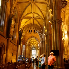 Interior photograph of St Mary's Cathedral, taken during Sydney Open 2018.