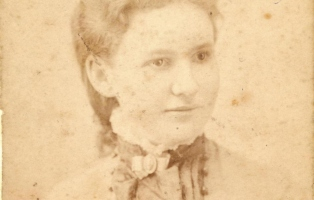 Albumen print of young woman.