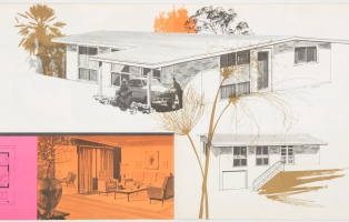 Architectural drawing of a modern home