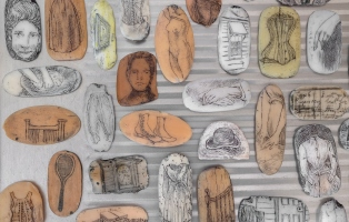 Soap carved with images.