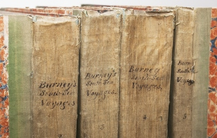Book spines from Elizabeth Bay House library