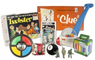 Image of various old fashioned toys and games