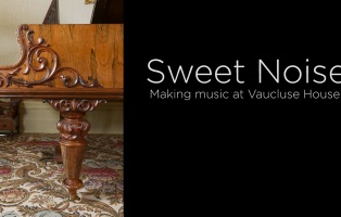 Image of piano leg with title slide for video.