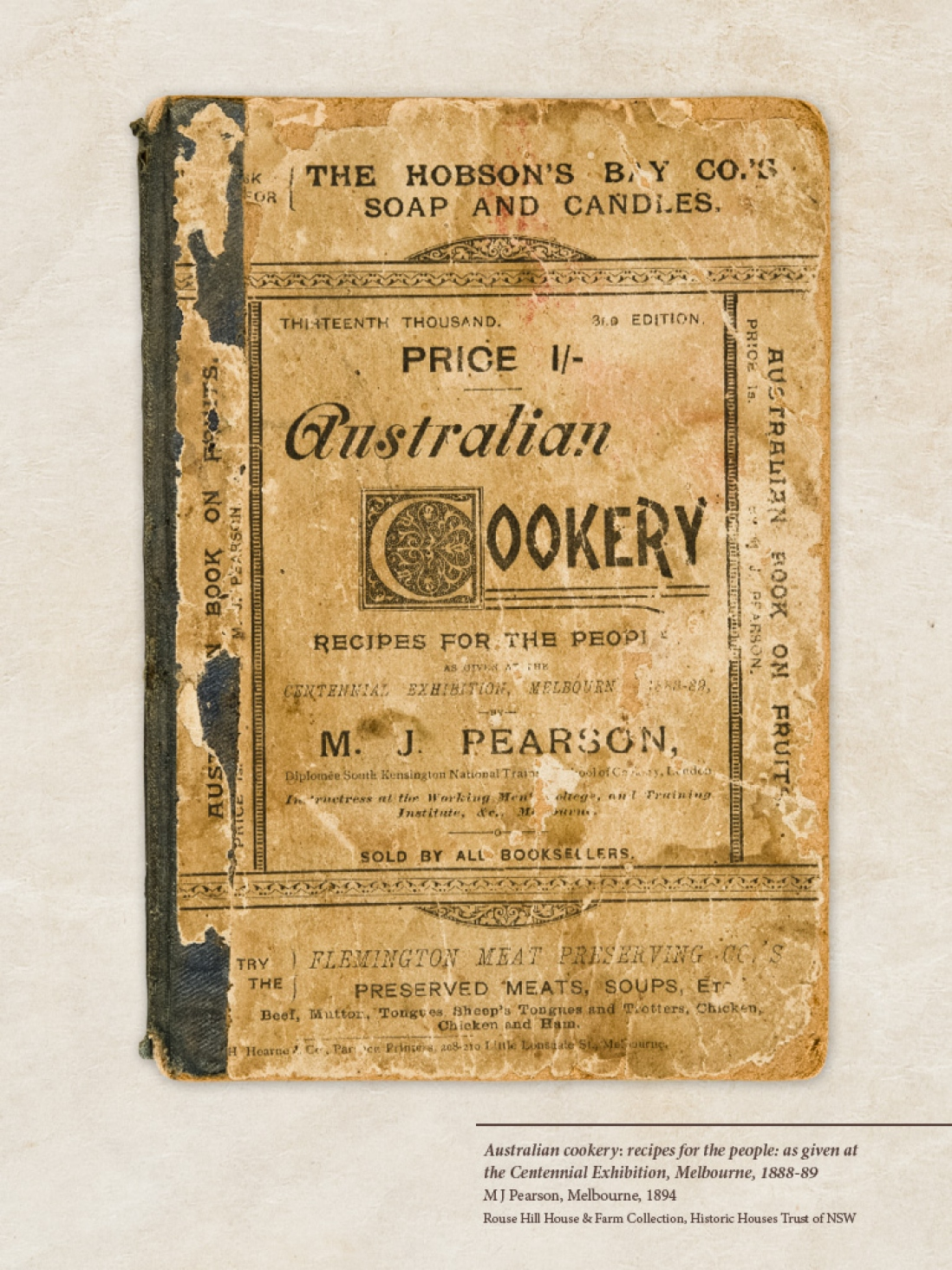 Cover of old recipe book.
