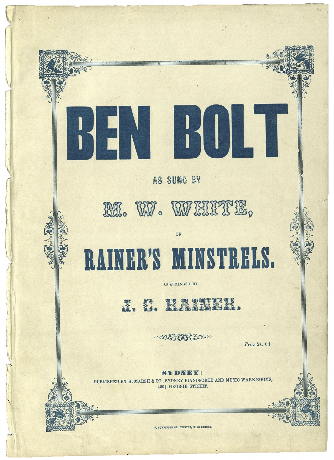 Ben Bolt as arranged by J C Rainer