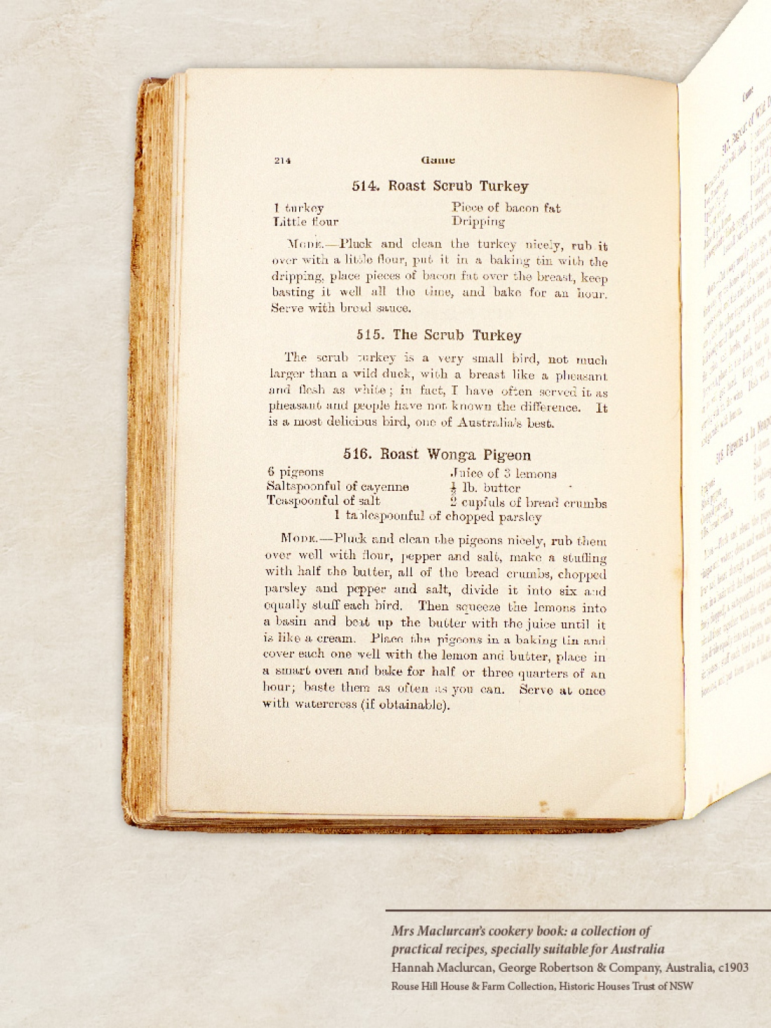 Rouse Hill recipes | Sydney Living Museums