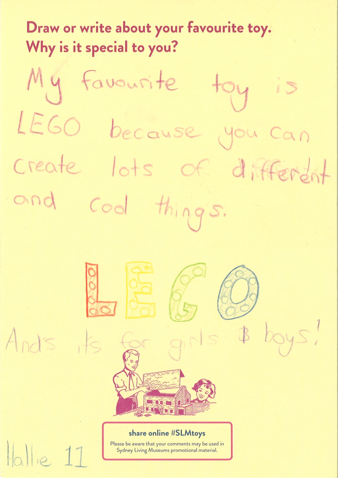 A child describes why they like Lego