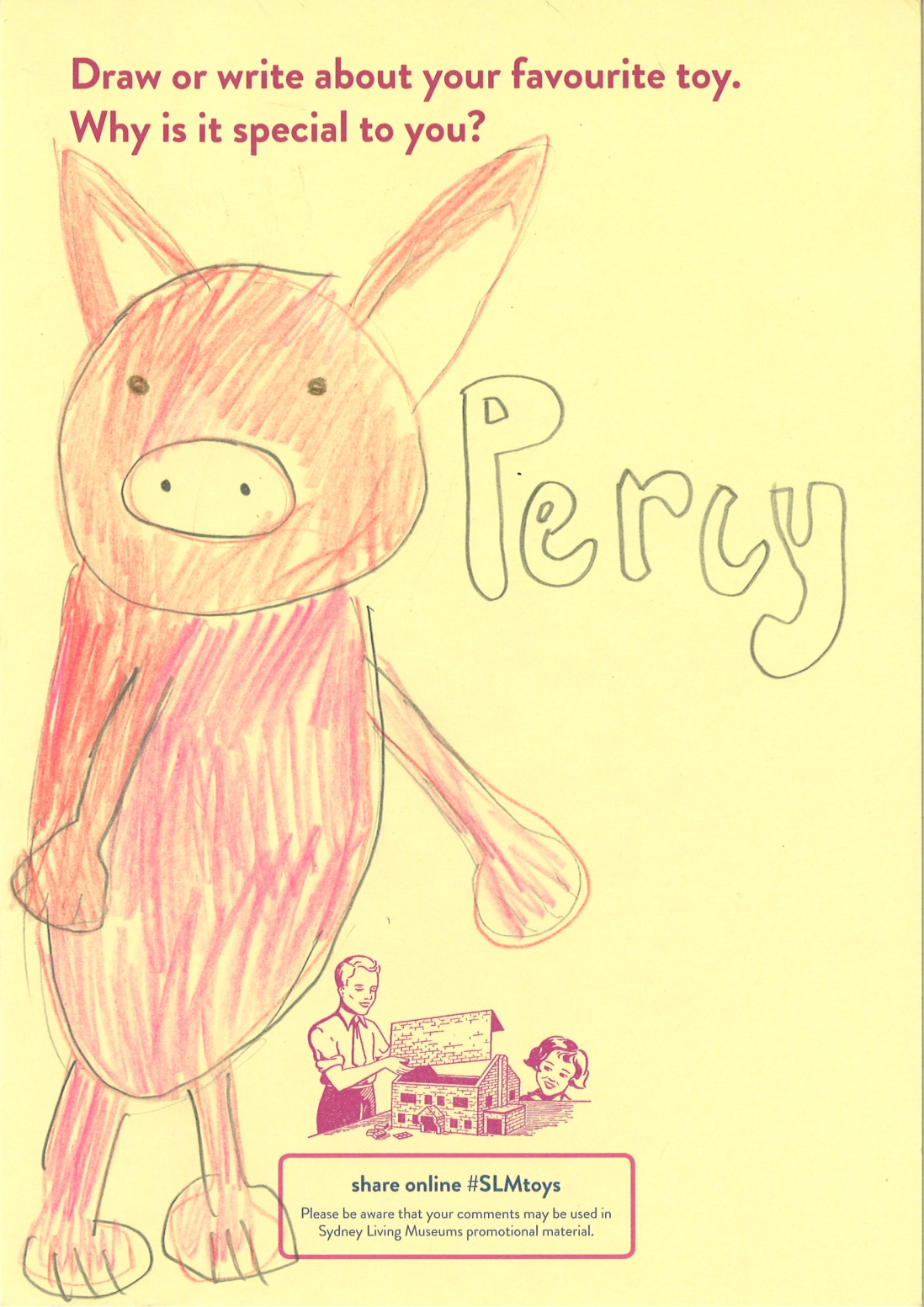 This is a drawing of a pig