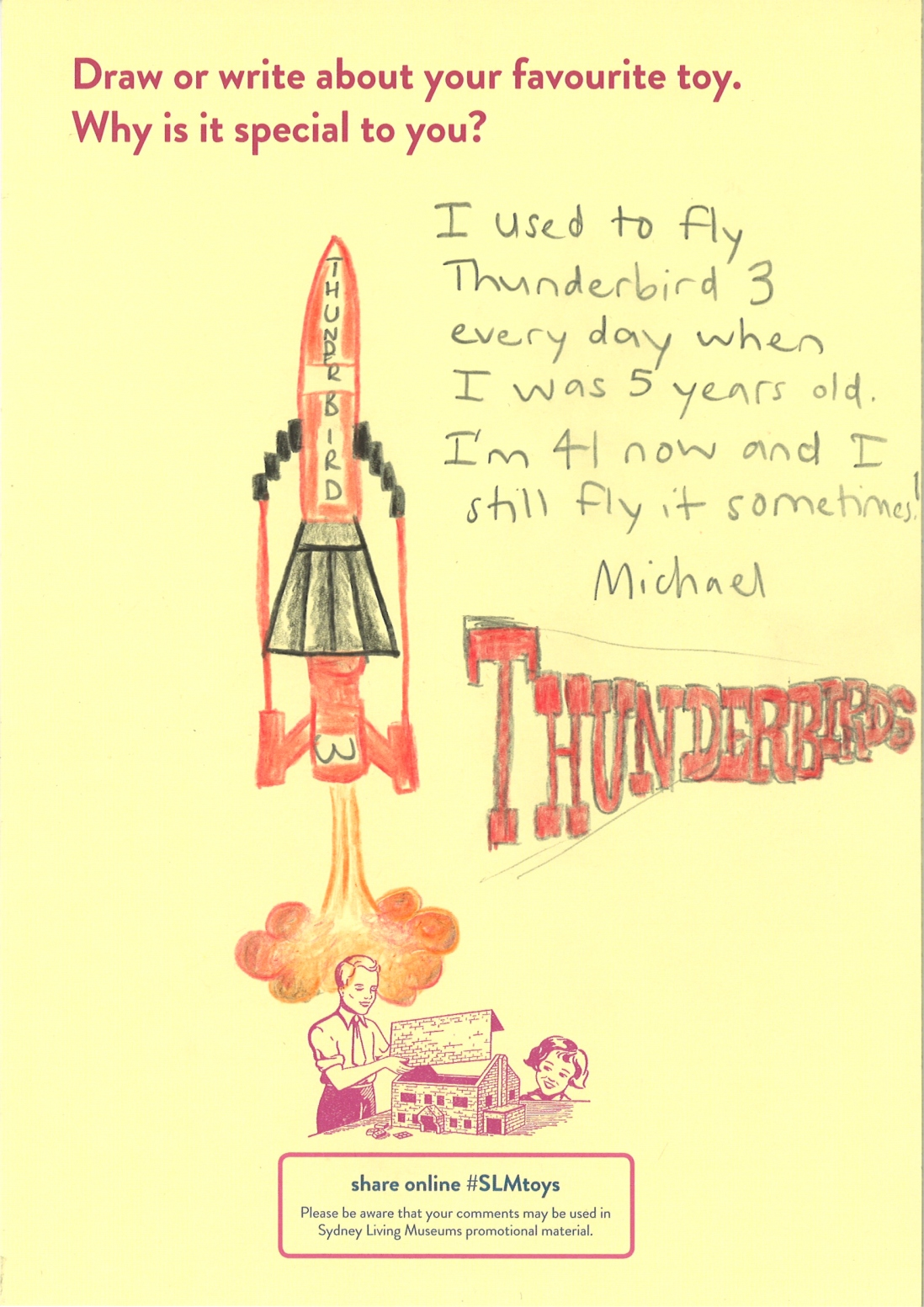 A drawing of Thunderbird 3