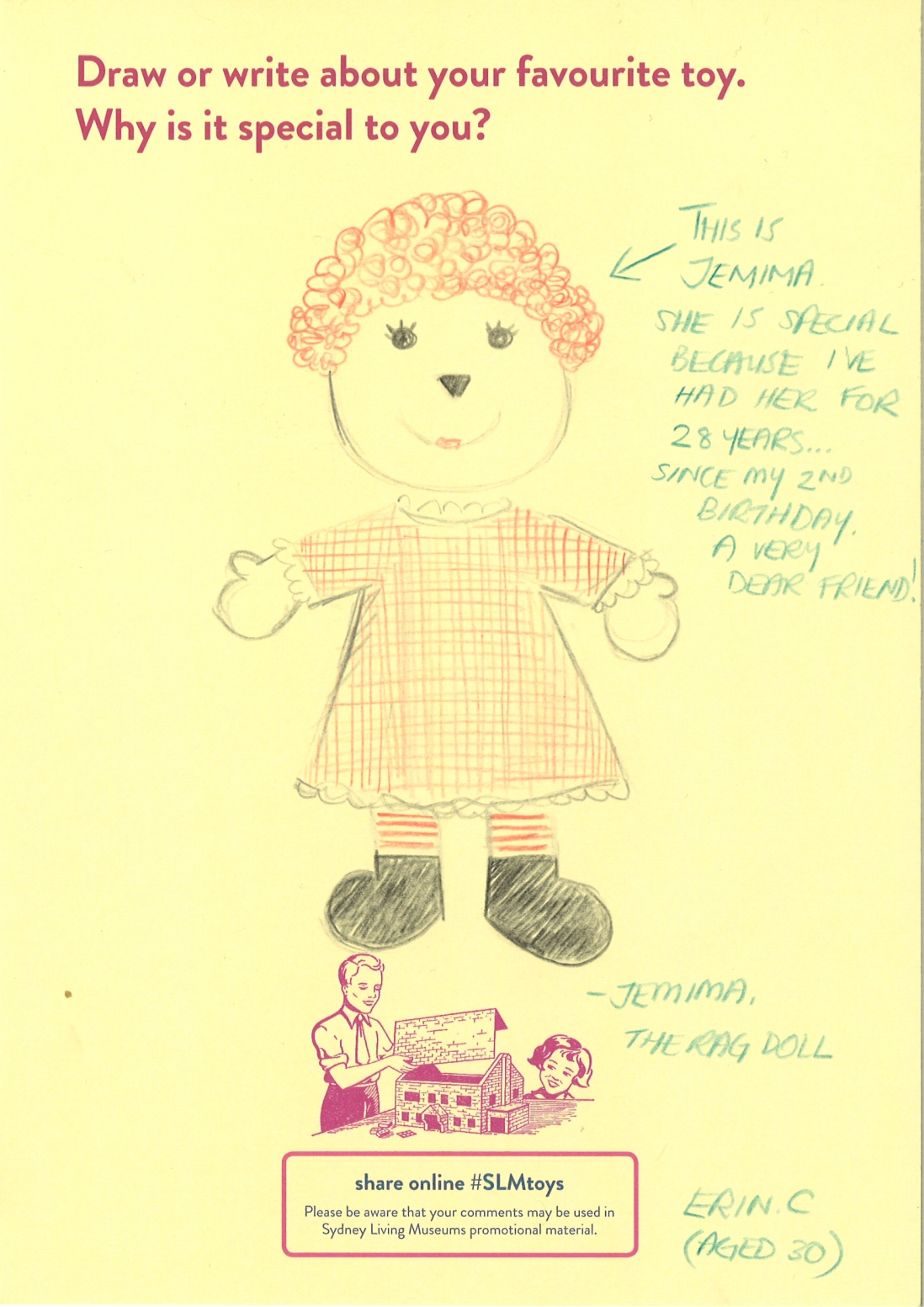 Drawing of a rag doll