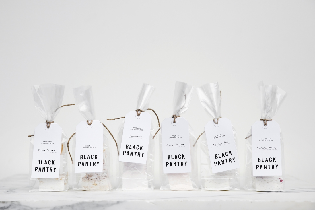 Bags of Black Pantry flavoured marshmallows