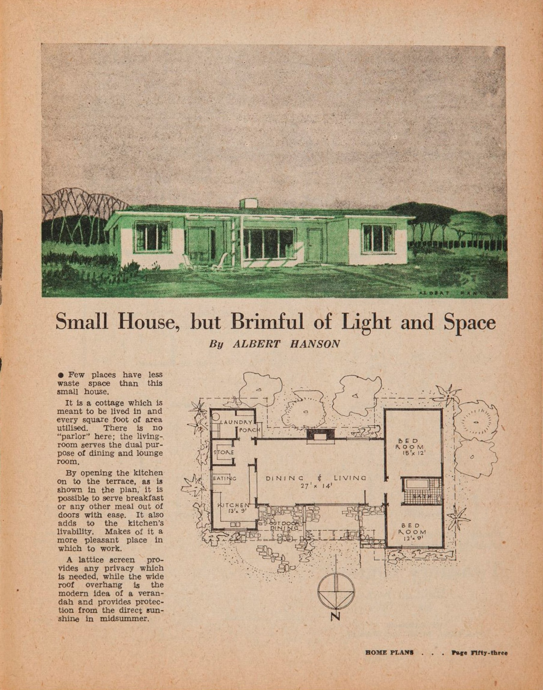 Post war sydney home plans 1945 to 1959 sydney living for In home designs