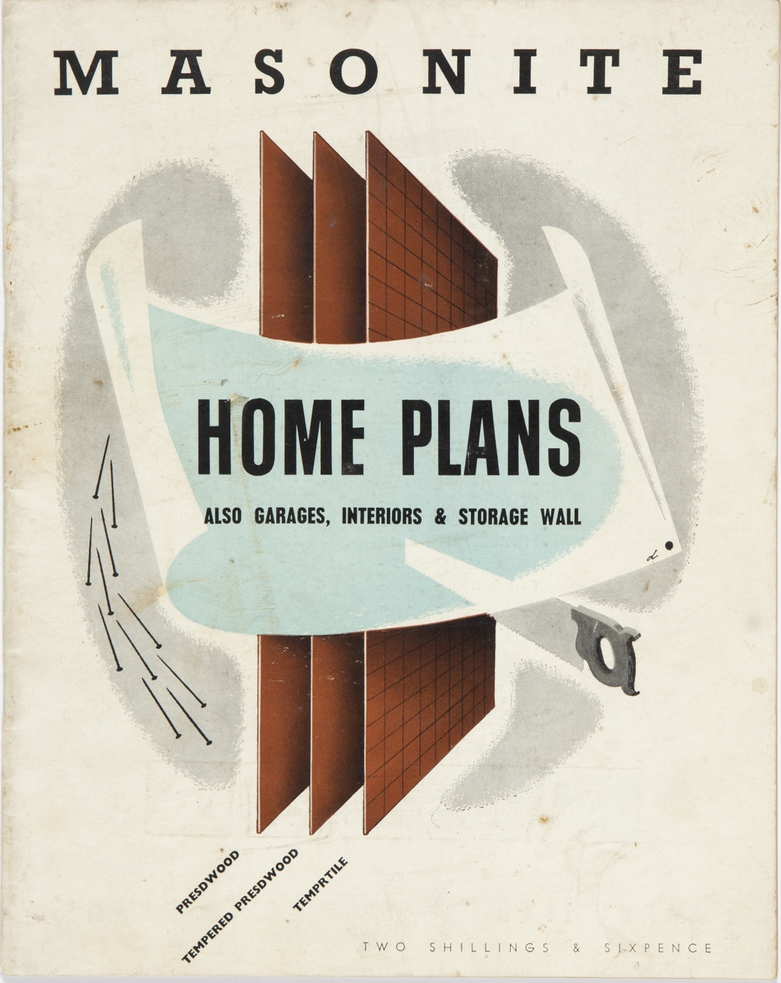 Cover of catalogue with stylised design.