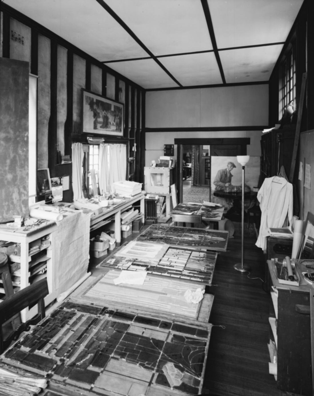 Stained glass studio Napier Waller residence, Ivanhoe, Victoria, 1972