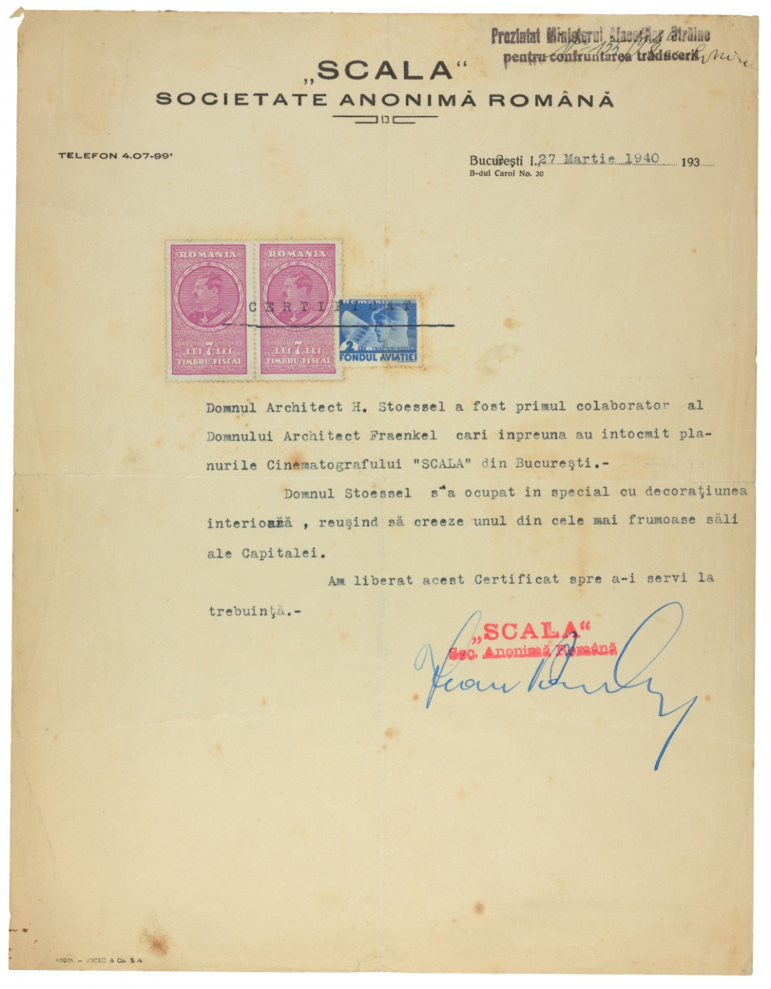 Scala letter reference 1940