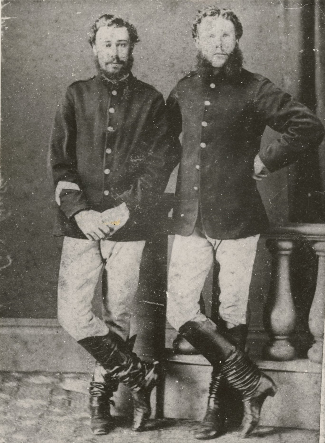 Portrait of two NSW troopers